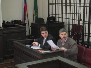 Адвокат Александр Попков и Валерий Бриних