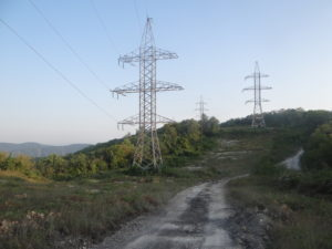 "ЛЭП для энергоснабжения ""дворца"". Август 2015 г."