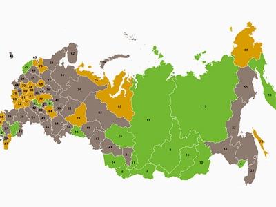 Карта бедности российских регионов  profile.ru